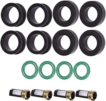 Chevy 2.0 I4 Fuel Injector Service Rebuild Kit Orings Filter Grommets CSKDO14