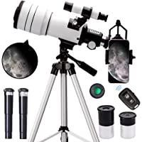 ToyerBee Telescope for Adults & Kids, 70mm Aperture Astronomical Refractor Telescopes for Astronomy Beginners (15X-150X…