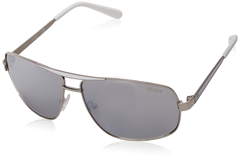 37e6253555 Amazon.com  GUESS Men s Metal Navigator Rectangular Sunglasses
