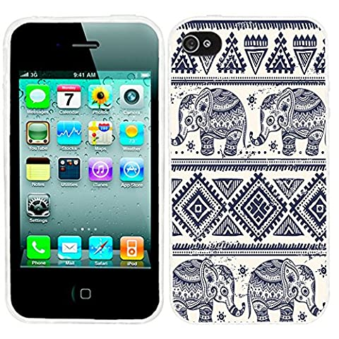 iPhone 4s Case, iphone4s case,iphone 4 case,iphone4 case, ChiChiC full Protective unique Stylish Case slim flexible durable Soft TPU Cases Cover for iPhone 4 4g 4s,blue indigo ethnic cute (Iphone 4 Case Artsy)