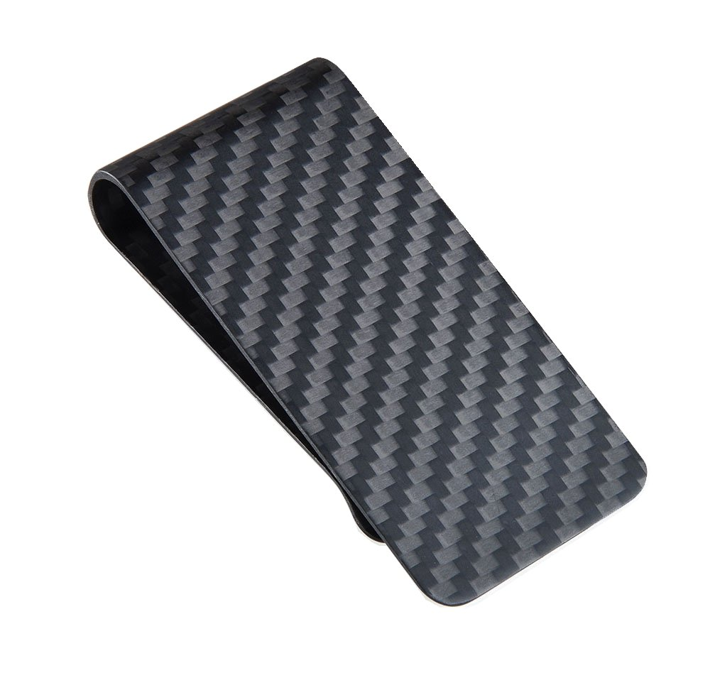 CL Carbonlife(TM) Carbon Fiber Money Clip Matte Credit Card Business Card Holder