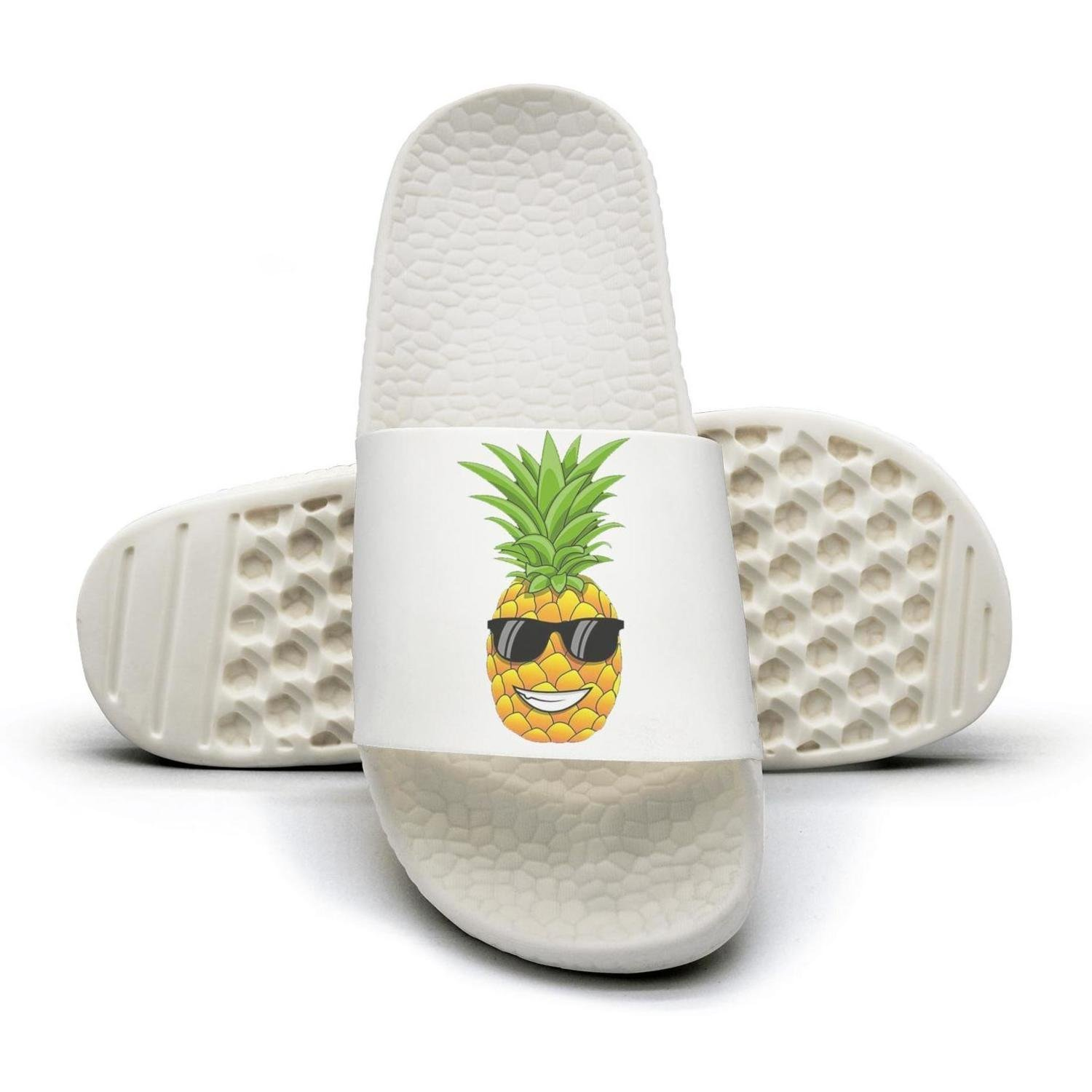 WooWe Hawaiian Pineapple sunglasses mens Fashion Slippers Sandals Casual