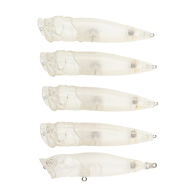 5pcs Unpainted Hard Blank Lures 9.5cm Unpainted Minnow Lure DIY Fish Body