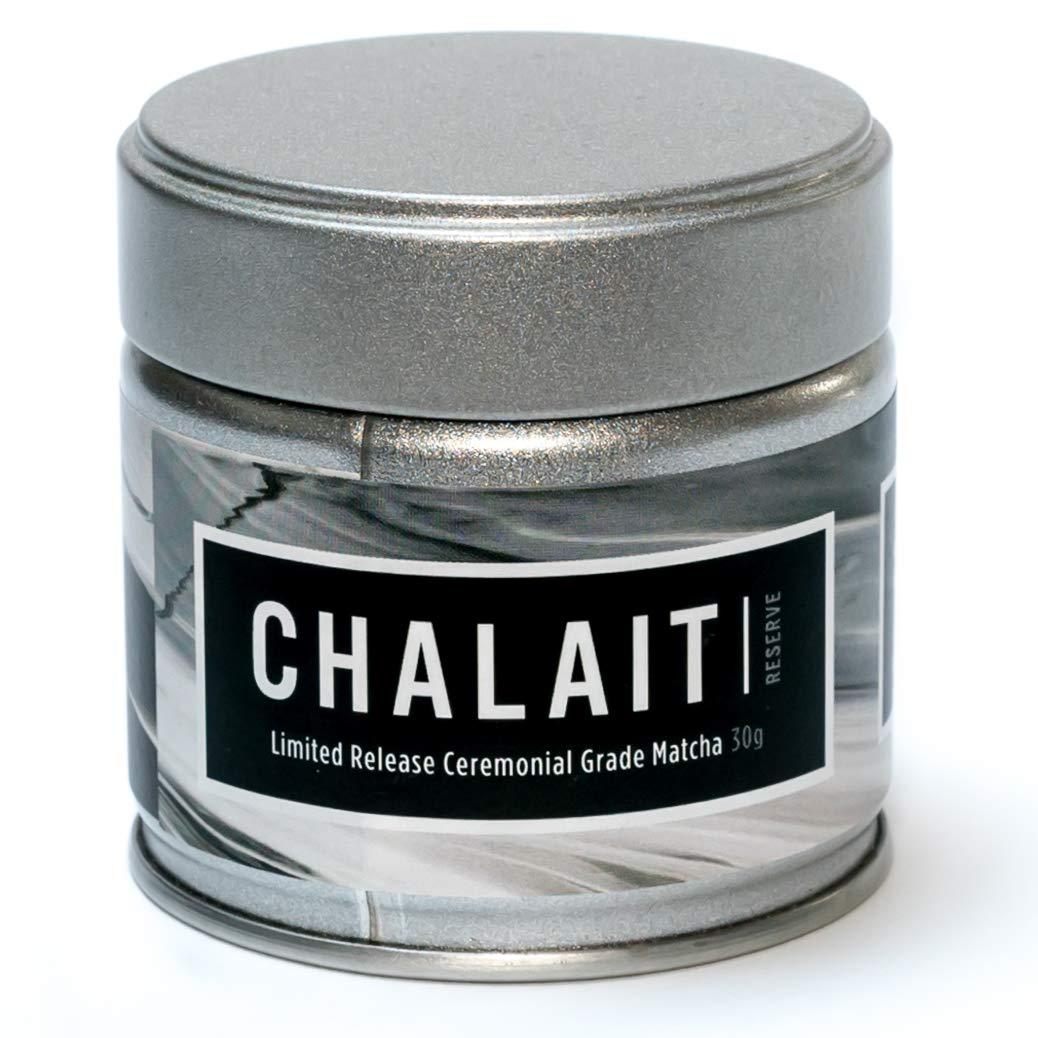 Chalait Matcha - Japanese Matcha Green Tea Powder - For Sipping as Tea - Antioxidants, Energy, Radiation Free, No Additives, Zero Sugar [30g Tin] (Reserve Grade)