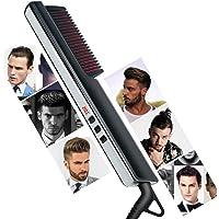 HNKK Beard Straightener Hair Straightening Comb LED Display Negativ jon Hair Straightening Comb Hushålls Volym…