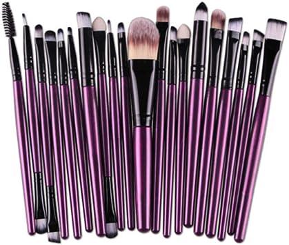 20 piezas de maquillaje Juego de brochas de maquillaje Juego de artículos de tocador Lana de maquillaje Juego de brochas brochas maquillaje brocha maquillaje: Amazon.es: Belleza
