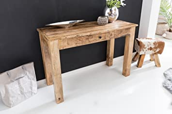 Kadimadesign table console rustica 120x50x85cm bois mango nature
