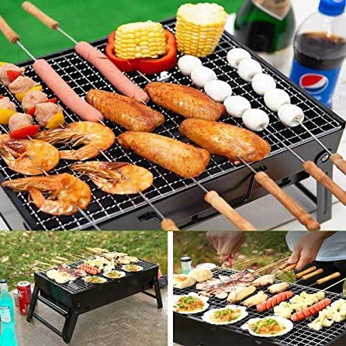 DNNAL Barbecue au Charbon, Accueil BBQ Barbecue BBQ Portable Kits d'outils avec Assaisonnement Brosse, Party Patio Hôtel Villa Backyard Camping