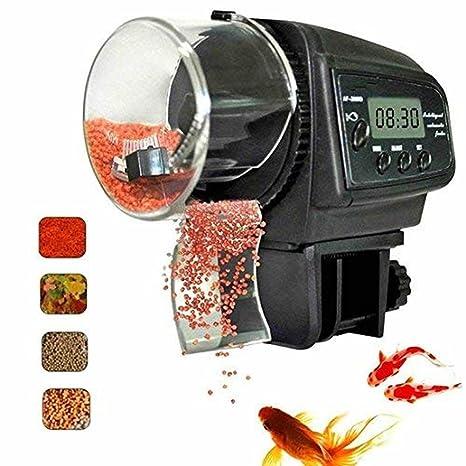 Dcola Alimentador Peces Automático, Dispensador de Comida Acuario, Alimentador Automático de Peces para Acuario