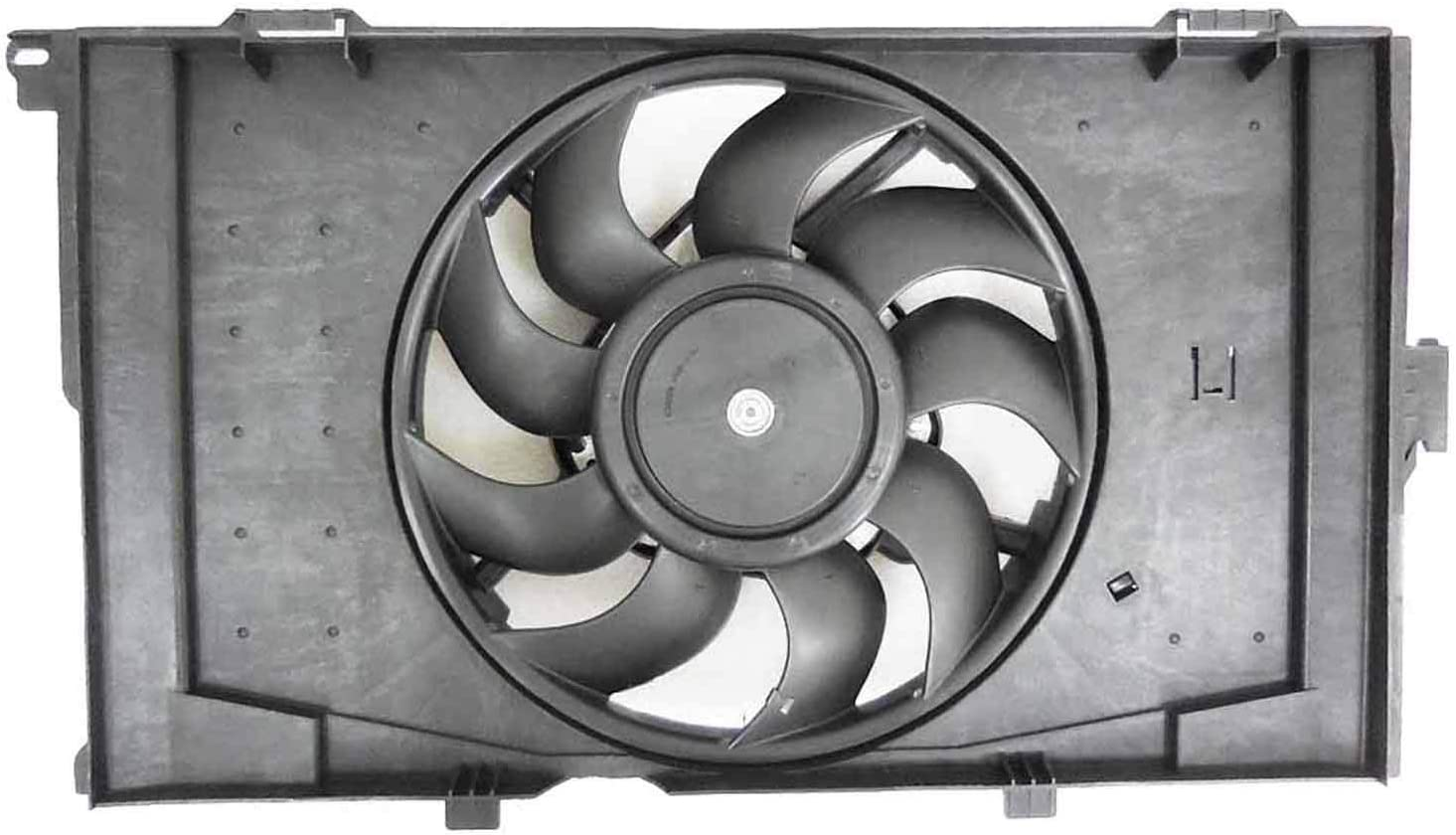2014-2019 Bmw I3 Radiator And Condenser Fan Assembly With One Big Fan; Without Range Extender; From 9//14 Partslink BM3115134