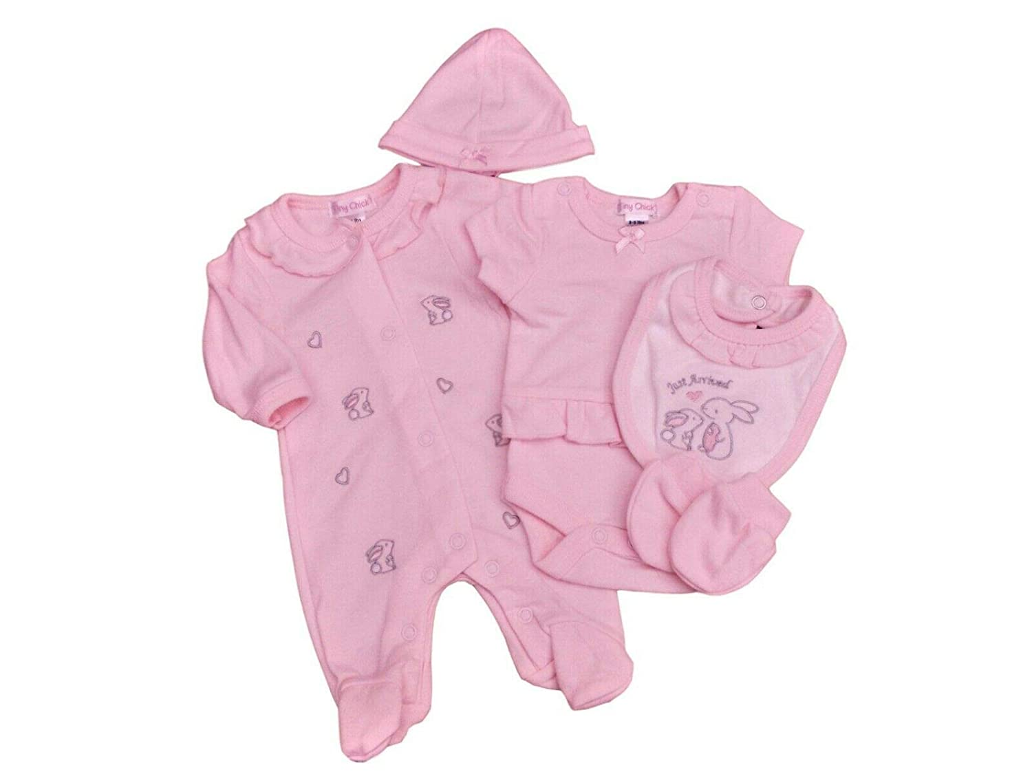Little Chick BNWT Tiny Premature Preemie Baby Pink Girls Easter Bunny Layette