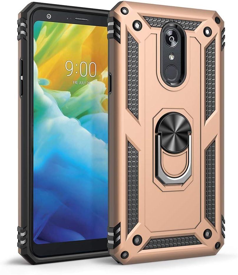 Sfmn Military Case for LG Stylo 5 Case Ultralight, Magnetic, Ring, Military Anti-Fall for LG Stylo 5/Stylo 5 Plus/Stylo 5V/Stylo 5X Phone Case(Gold)