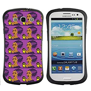 ArtSpace Premium Hybrid Back Case Cover Samsung Galaxy S3 III i9300 ( Angry Lady )