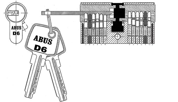 30//45 Hinweistext von SN-Geb/äudetechnik GbR beachten ! mit Gefahrenfunktion auch Gleichschlie/ßend m/öglich BKS Profilzylinder PZ 8812 Baul/änge: 31//45