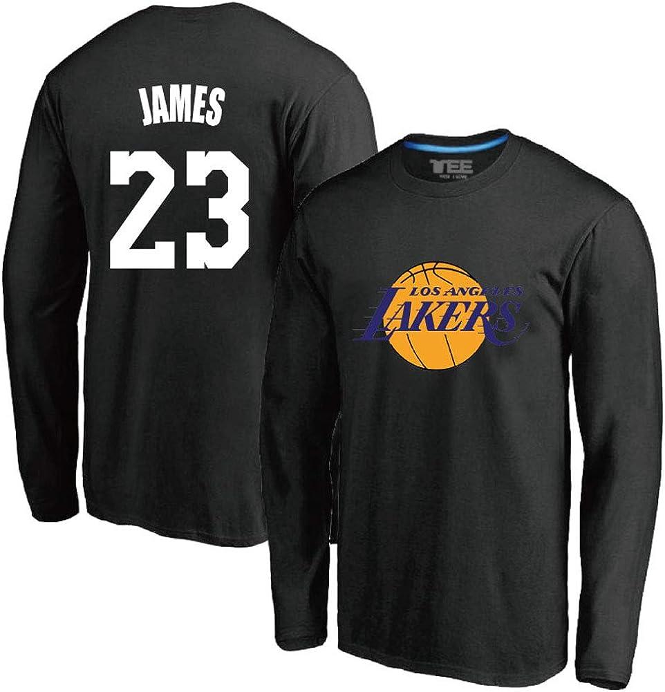 Jersey de Jersey de Uniforme de Entrenamiento de Aficionados n /° 23 Lakers James 23# Camiseta de Manga Larga de Uniforme de Baloncesto Camiseta de Baloncesto n /° 23