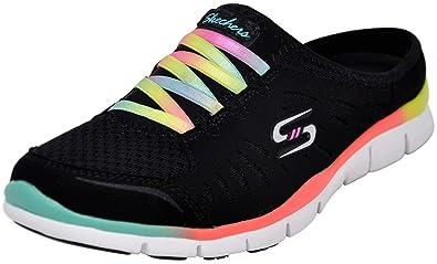 the best attitude b584a 29fe9 Skechers Sport Women s No Limits Slip-On Mule Sneaker, Black Multi, ...