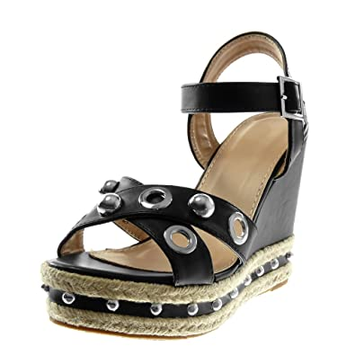 lanière Chaussure Angkorly Sandale Mule Cheville Mode CrdBoxe