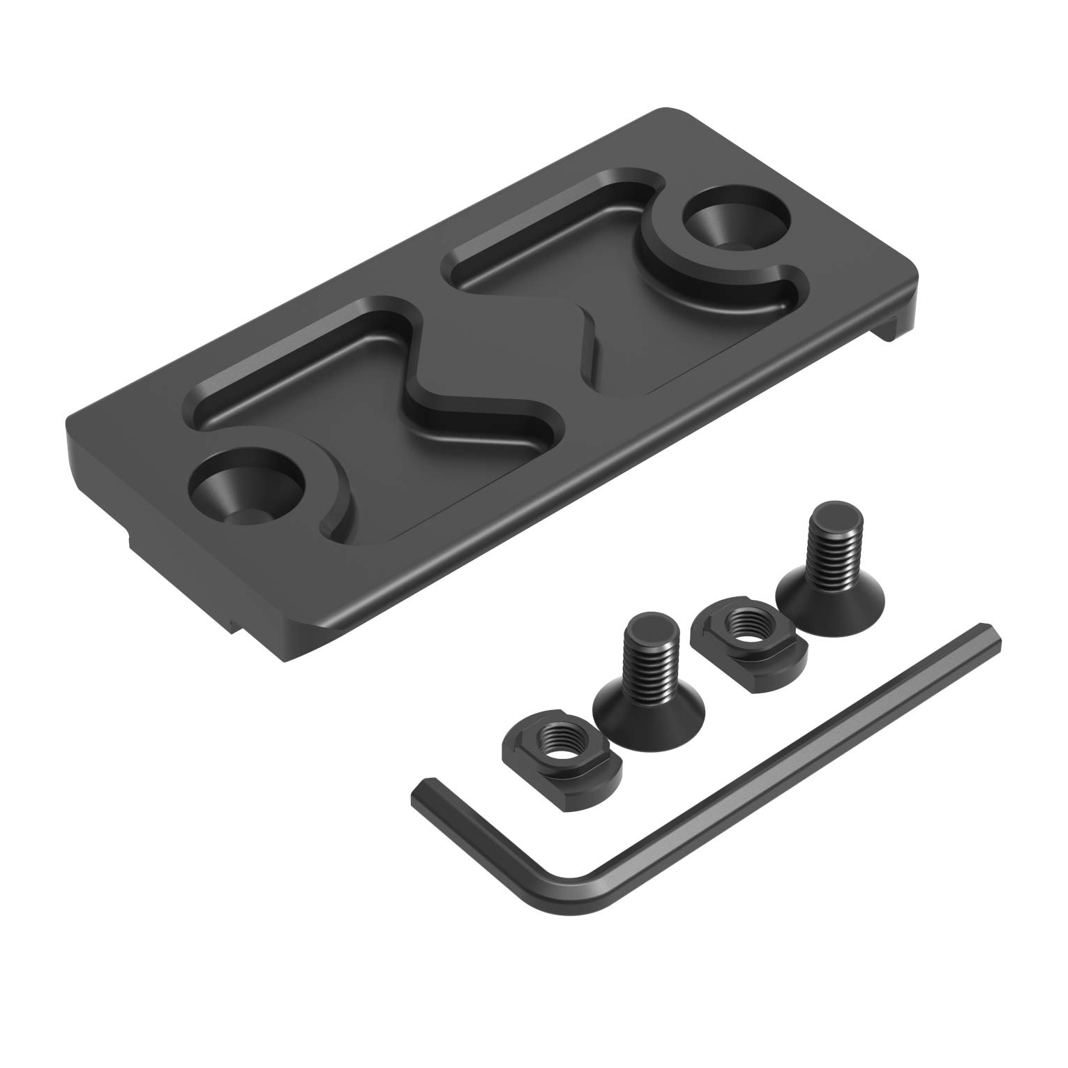 Tough Tactical Tools M-LOK Arca-Swiss Rail Adapter, RRS Tripod Dovetail Adapter (MLOK)