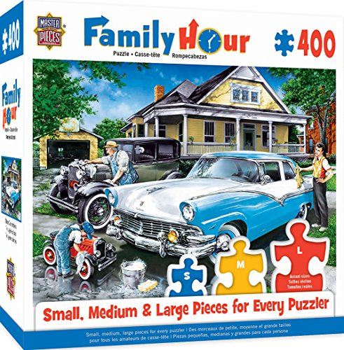 Hour Three Generations Father, Son & Cars Jigsaw Puzzle, 400-Piece ()