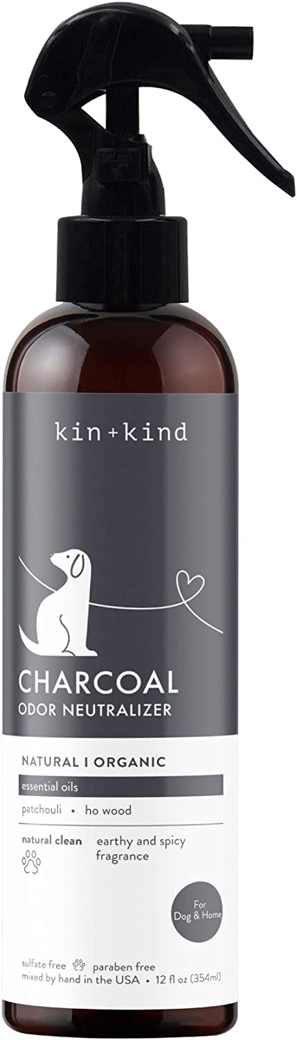 kin+kind Organic Odor Neutralizer for Home (12 fl oz) - Remove Pet Odor, Freshen Fabrics and Furniture, Eliminate Coat Odor - Safe, Natural Formula with Aloe - Hand-Mixed in The USA