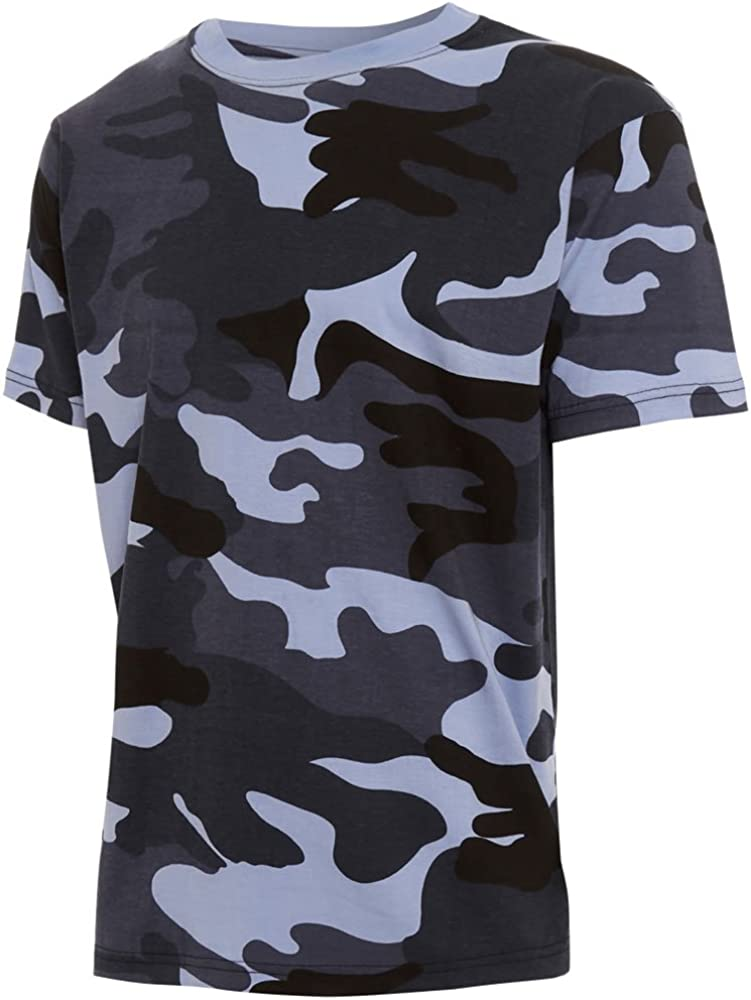 Mens Camouflage Military Army Print Combat T-SHIRT TOP DPM Camo Special Ops Out