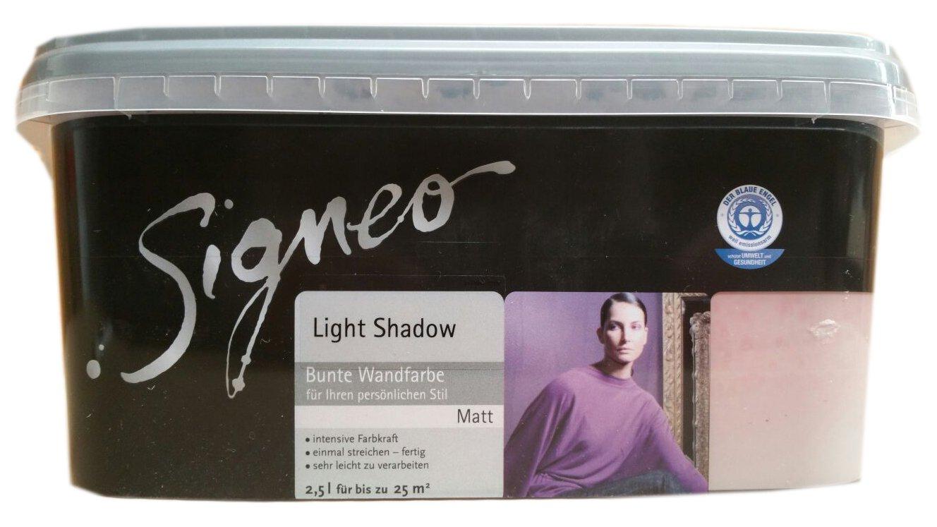 Signeo L Bunte Wandfarbe Light Shadow Lilagrau Matt Oberflchen Innenfarbe  Amazonde Baumarkt With Lila Wandfarbe