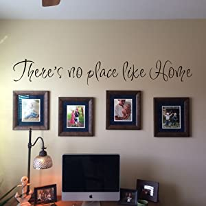 There's No Place Like Home Vinyl Wall Decal Quote (XLarge,Black)