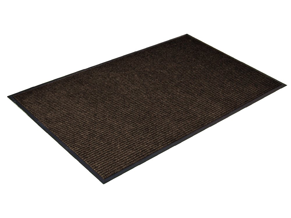 Channel Rib Indoor Commercial Mat, 3' x 4', Brown