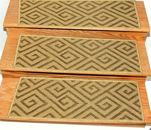 Ottomanson Jardin Collection Set of 14 Geometric Design 8.5