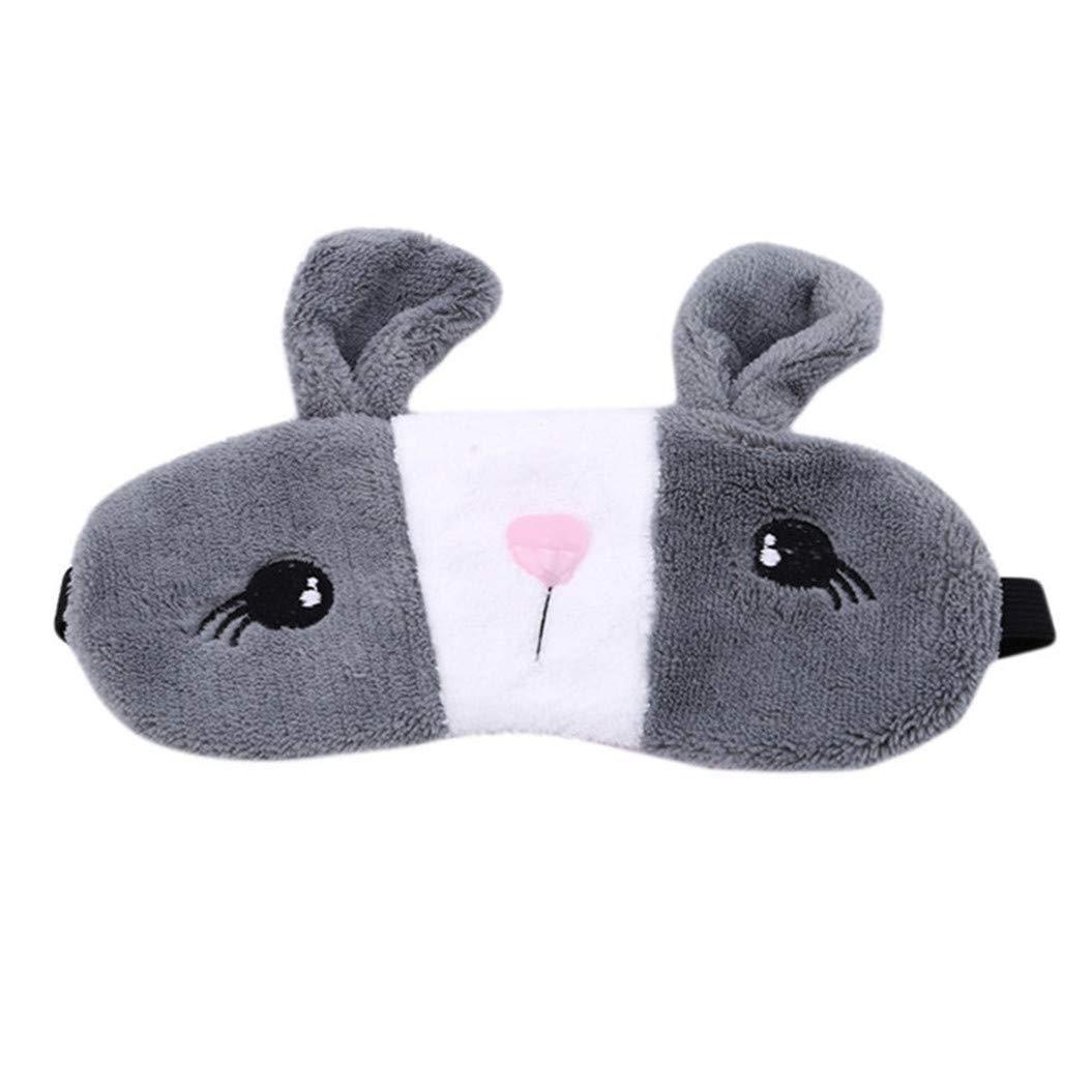 LZIYAN Sleep Eye Mask Lovely Cartoon Rabbit Eye Mask Portable Eyepatch Cute Blocks Out Light Blindfold For Home Travel,Gray by LZIYAN (Image #1)
