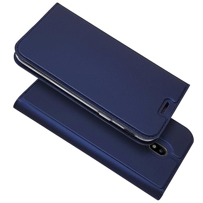 Copmob Samsung J5 2017 Hülle, Slim Premium PU Leder Magnetisch Handyhülle,[Kartensteckplatz][Bracket-Funktion], Flip Case mit