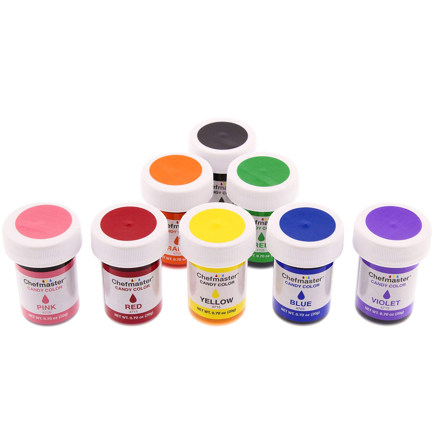U.S. Cake Supply 8 Bottle Set of 20-gram Liquid Candy Food Color with Color Mixing Wheel by U.S. Cake Supply (Image #2)