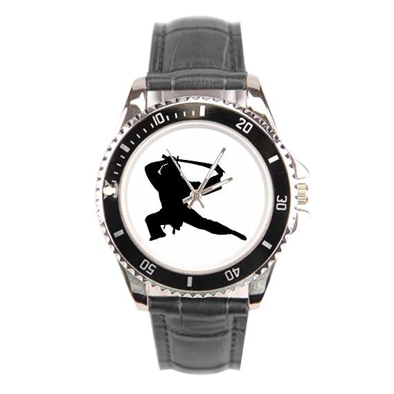 sjfy reloj para hombre piel artes marciales artes Custom piel reloj correas