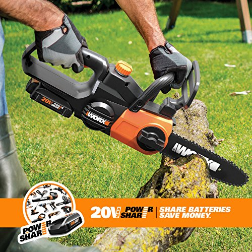 Worx WG322 10-in Cordless 20V Chainsaw with Auto-Tension and Auto-Oiling by Worx (Image #1)