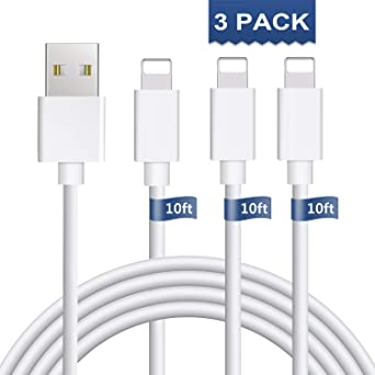 Amazon.com: iPhone Charger 3Pack 10FT iPhone Charger Cable ...