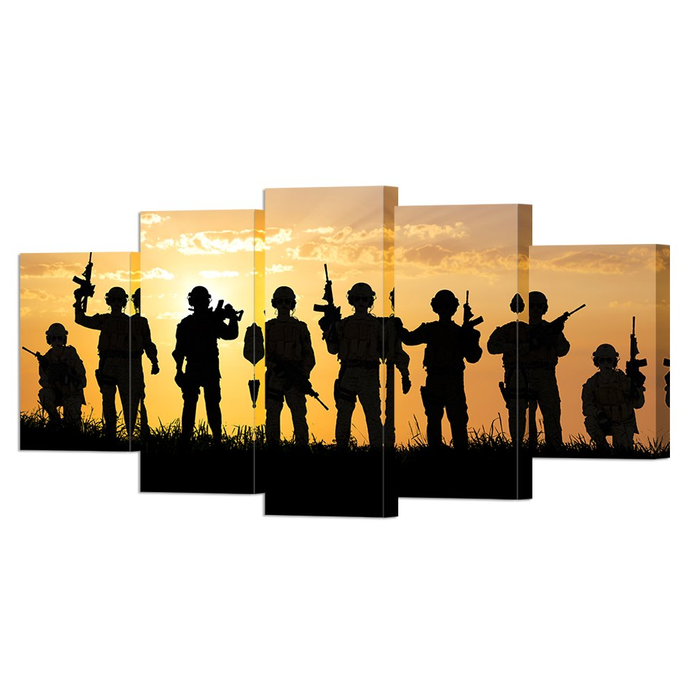 Amazon.com: VVOVV Wall Decor - Large Poster Prints Military Canvas ...