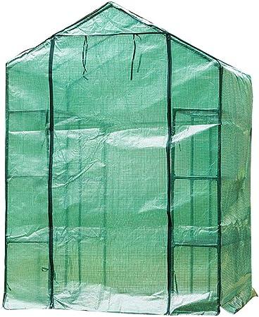 LIANGLIANG- Invernadero de Jardín Al Aire Libre Jardín Plantas Anticongelante Protección Ambiental Cubierta Plástica Impermeable, Verde, El 140x70x194cm (Color : Green, Size : 140x70x194cm): Amazon.es: Hogar