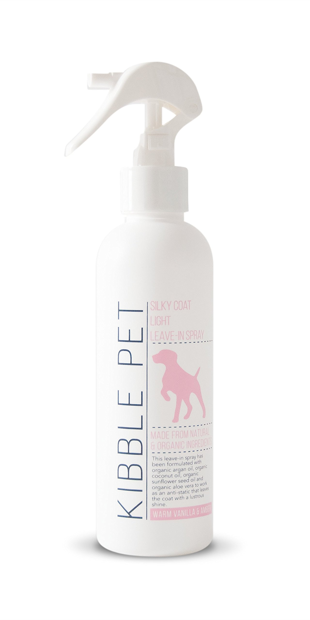 Kibble Pet Silky Coat Light Leave in Spray, Warm Vanilla and Amber (7.2 Ounces)
