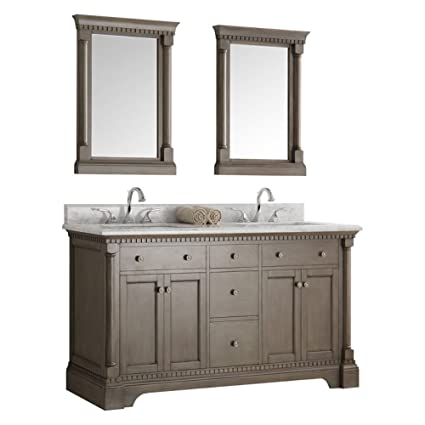 fresca kingston 60 antique silver double sink traditional bathroom rh amazon com traditional bathroom vanity nz traditional bathroom vanity cabinets