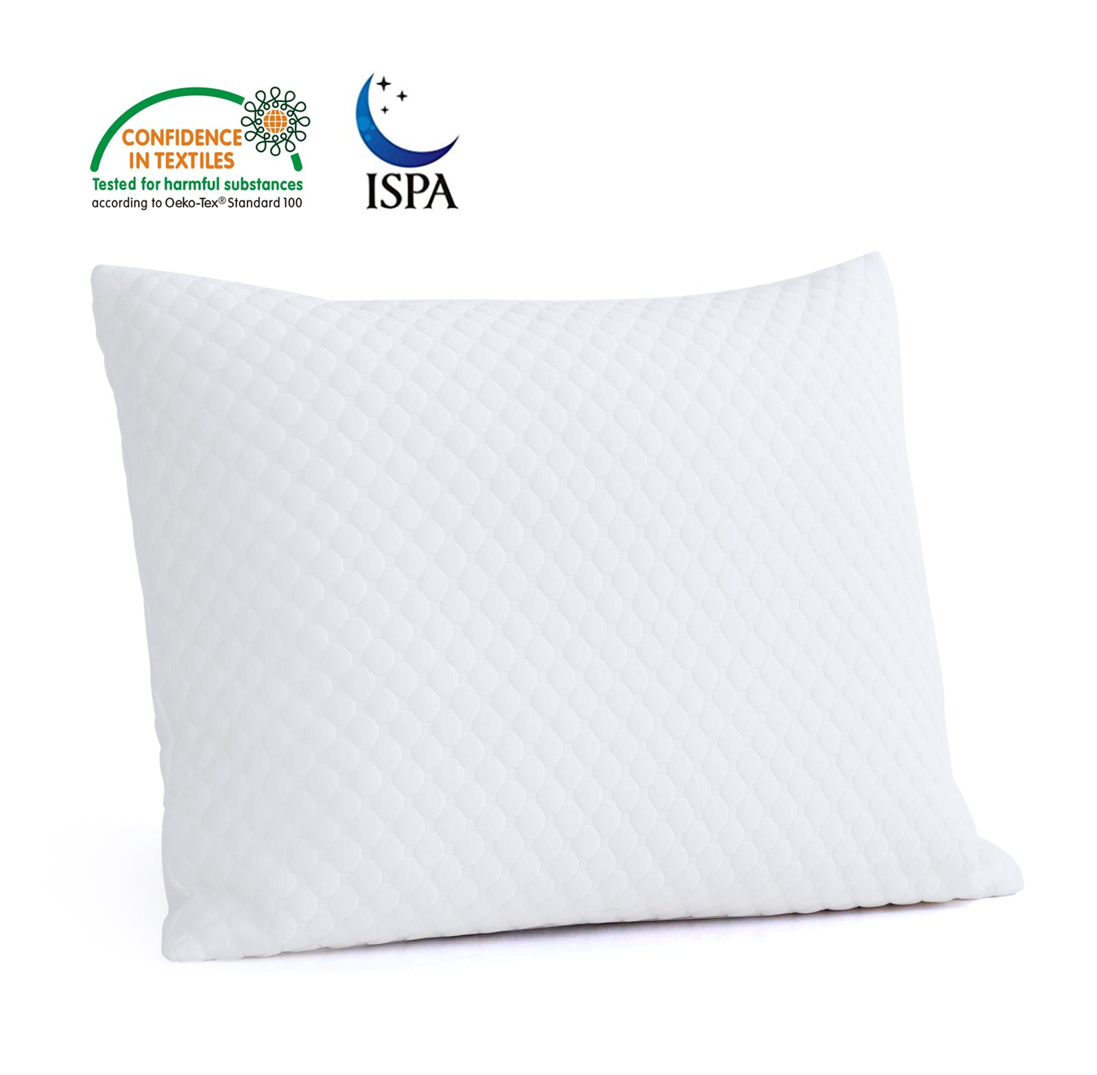 Chevanie Shredded Memory Foam Pillow Adjustable Hypoallergenic Bed Pillow-20 x 30-Queen Size
