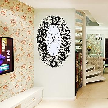 guazhong Gaol,GLL,Personalizado Reloj Relojes Decorativos creativos Sala de Estar de Cuarzo Reloj de Pared de Silencio Nido, 16 Pulgadas, Grandes Negros: 40 ...
