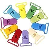 Pince Clip Denté Universel pour Tissu Jouet Fichier Lot de 10pcs L Multicolore