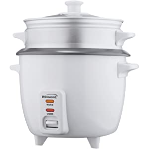 Brentwood Appliances TS-480S Rice Cooker with Steamer (15 Cups 900W), 1 Pack White