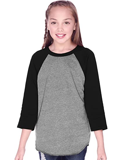 703a1da0 Amazon.com: Kavio! Youth Jersey Contrast Raglan 3/4 Sleeve: Clothing