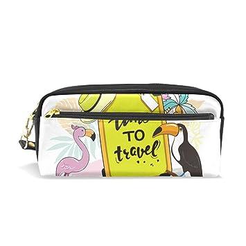 Estuche para lápices de tucán de Flamingos de viaje, bolsa ...