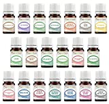 Essential Oil Set 20-5 ml 100% Pure Therapeutic Grade for Aromatherapy Diffuser, Skin, Body, Hair. Perfect for DYI Crafts, Soap, Lotion, Cream, Lip Balm and Candle Making.