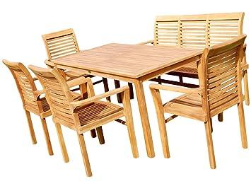 Tisch 150x80.As S Teak Set Gartengarnitur Tisch 150x80 Cm Mit 1 Bank 150 Cm Für 3 Personen Und 4 Sessel Holz Serie Jav Alpen