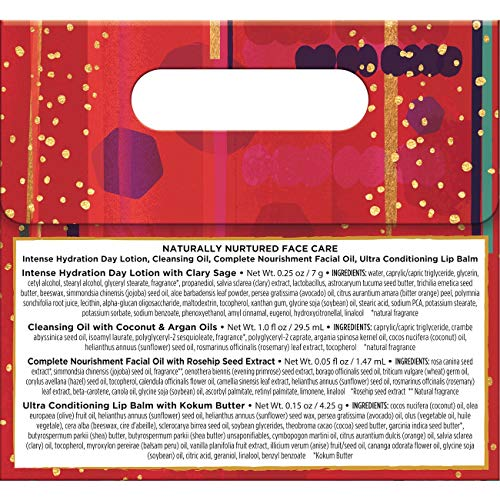 61OCf4Wpg8L - Burt's Bees Naturally Nurtured Face Care Holiday Gift Set, 4 travel sized Products Mini Day Lotion, Mini Cleansing Oil, Mini facial Oil, Ultra Conditioning Lip Balm