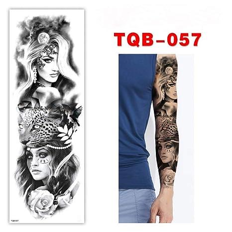 GHHCG Manga del Brazo Grande Tatuaje Rosa Reloj Impermeable ...