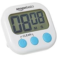 AmazonBasics Minuteur numérique de cuisine avec chronomètre
